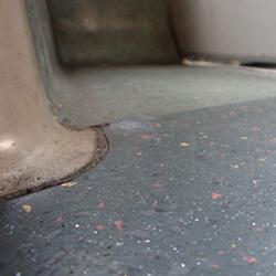 bump in vinyl floor