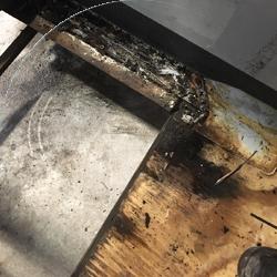 rotting flooring on bus..